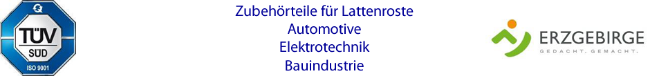 Kunststoffteile für Lattenroste, Automobilindustrie, Kunststoffspritzgussteile, Kunststoffumspritzungen